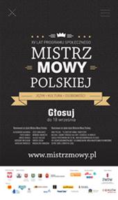 plakat Mistrz mowy Polskiej