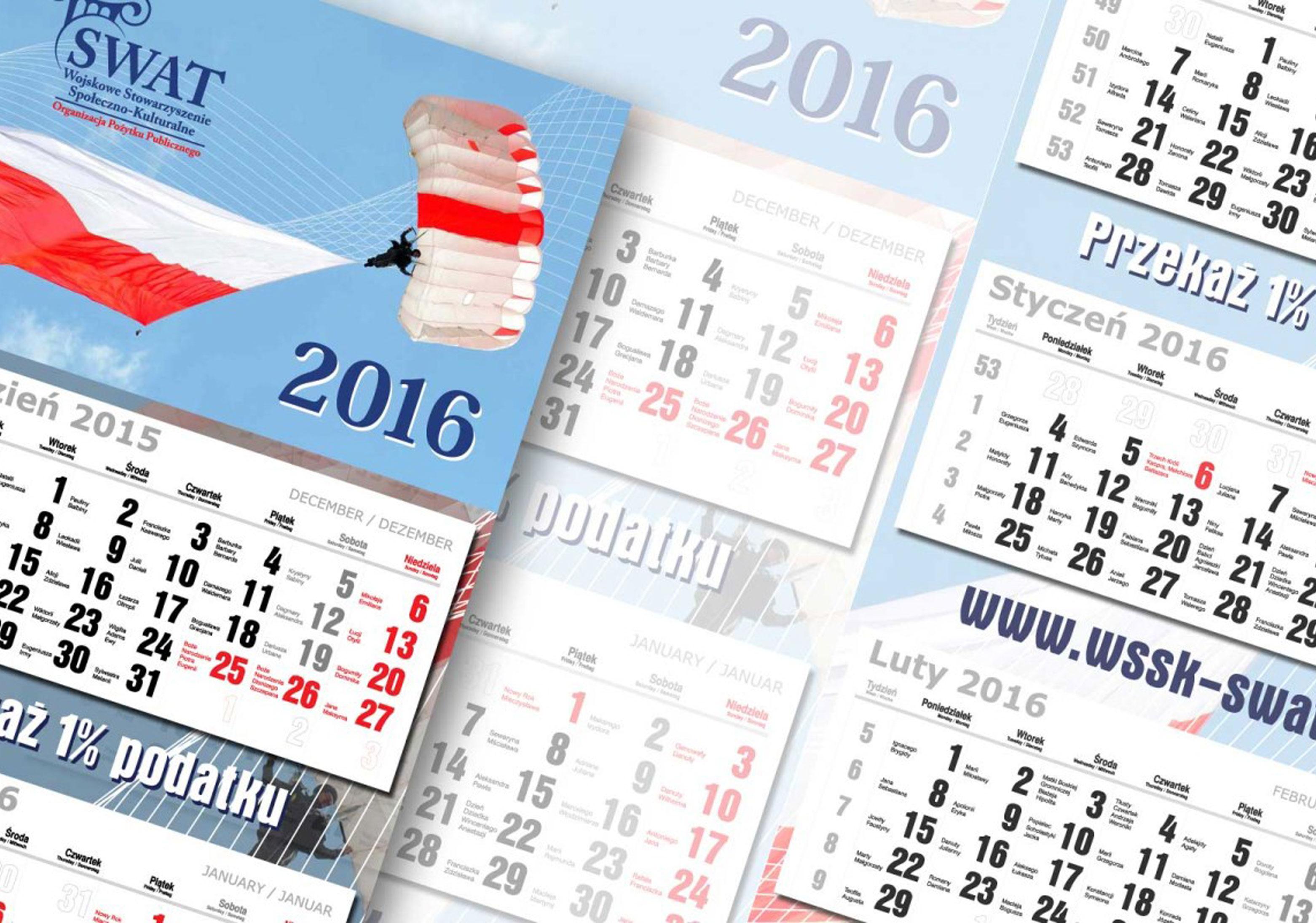 druk i projekt kalendarzy